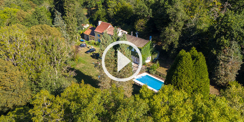 Drone video omgeving Moulin Joyeux